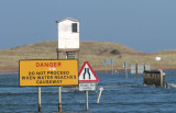 The Holy Isle causeway shortly before high tide