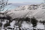 The crags of Slackdhu from Dumbrock Muir