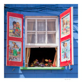 Decorated shutters