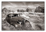 A derelict '37 Chevrolet Master coupe,  Bodie, CA