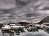 a grey and cloudy day in the Harbour