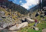 Way to Kareri lake