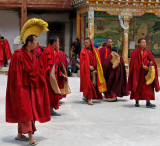 Monks prepare for ceremony