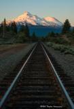 Mount Shasta / Union Pacific tracks