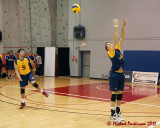 Queen's at Royal Military College M-Volleyball 01-20-12