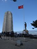 Chunuk Bair Memorials:  New Zealand (l), Atatürk (r)