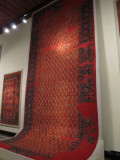 Some large carpets in this museum