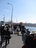 Typical crowd on the bridge
