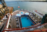 BOUDICCA Aft Deck Pool from Top Deck