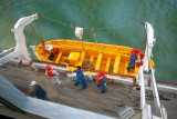 BOUDICCA Life boat being Loared