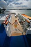 BOUDICCA Margaret coming up to Top Deck