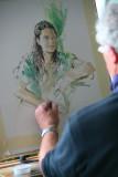 BOUDICCA Teng Teng being Painted by Gordon King