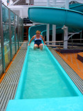 Carnival Glory Margaret coming down the Slide