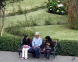 2011_02_03 Plaza de Armas Arequipa Park Bench Intruder