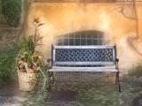 Bench &  flowerbasket
