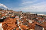 View over historic Lisbon