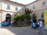 Children's playground near museum
