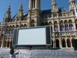 Rathausplatz. The Film  festival  begins.