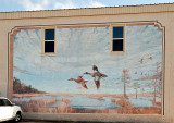 A mural in Gueydan, LA, the self proclaimed Duck Capital of the World.