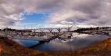 Panorama of the Yaquina Bay Bridge, Newport, Oregon