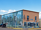 Murals were painted on two sides of this building in Montana