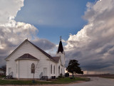 Storm threatens church