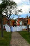 Burano Island: laundry day