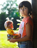 Alessia with her doll