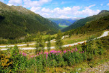 Obertilliach: view from the road/path to Porze Hutte