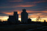 Bennett, CO elevators at sunset.