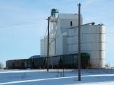 Fleming, CO old grain elevator.