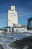 Haxtun, CO, early concrete grain elevator.