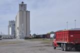 Burlington, CO grain elevators.
