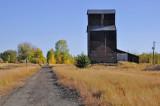 Felt, ID old grain elevator.