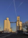 The big N and the Wauneta, NE grain elevators.
