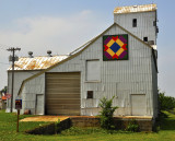 Carnarvon, IA old grain elevator-Barn Quilt.