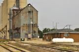 Highview, IA grain elevators, old and new.
