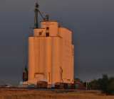 Roggen, CO grain elevator bathed in Sweet Light.