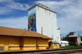 Berthoud, CO grain elevators.