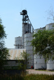 Berea, NE steel grain elevator.
