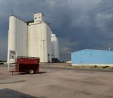 Gordon, NE grain elevators.