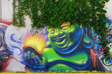 Green haired genie