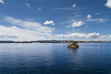 Caballito de totora or Reed boat in Uros Island