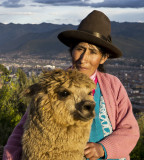 A woman and her alpaca