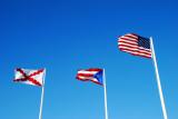 Three flags over El Morro, OSJ