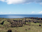 Remains of a Rapa Nui building