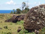 Broken moai