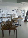 Models of the boats that brought the first settlers