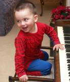 Spiderman at the piano