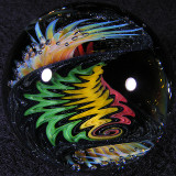 Rasta Steel Balloons Size: 1.87 Price: SOLD